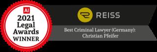 Legal Awards Winner 2021: Best Criminal Lawyer (Germany): Christian Pfeifer